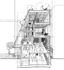 House atelier bow wow for Bow house plans