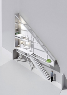 The Keret House - Axonometrie - foto: Centrala