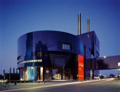 Guthrie Theater - Guthrie exterior – View from 2nd Street, Dusk - foto: © Roland Halbe