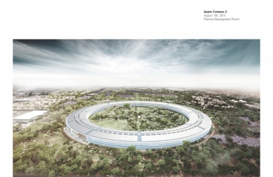 Apple Campus 2 v Cupertino od Normana Fostera - foto: Foster + Partners