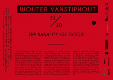 Wouter Vanstiphout : The banality of Good