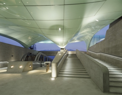 Stirling Prize 2008 - nominované stavby - Nord Park Cable Railway, Innsbruck, Zaha Hadid Architects - foto: © Roland Halbe